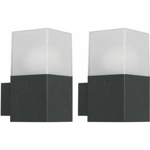 Etc-shop - 2er Set LED Wand Leuchte Außen Beleuchtung Garten Strahler