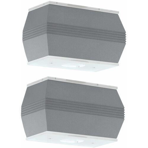 ETC-SHOP 2er Set 10 Watt LED Außen Lampen Wand Up Down Fassaden Strahler Alu