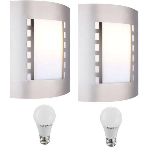 ETC-SHOP 2er Set LED 9,5 Watt Wand Leuchten Außen Beleuchtungen Strahler