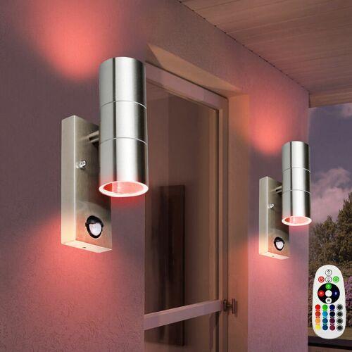 ETC-SHOP 2er Set RGB LED Wandlampen mit Bewegungsmelder VT-7622PIR - ETC-SHOP