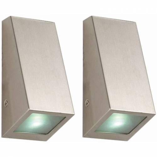 ETC-SHOP 2er Set Außen Wand Leuchten Fassaden Strahler Geh Weg Beleuchtung