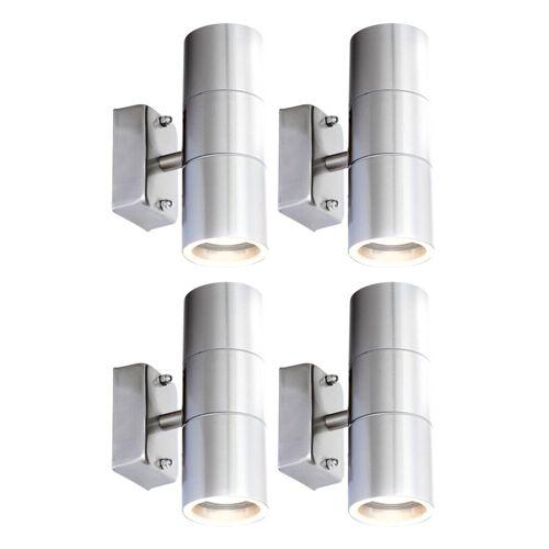 ETC-SHOP 4er Set LED UP DOWN Wand Strahler Außen Beleuchtung Fassaden Lampen