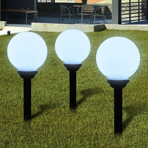 BETTERLIFE Außenlampe Solarkugel Solarlampe LED Kugellampe 3tlg.