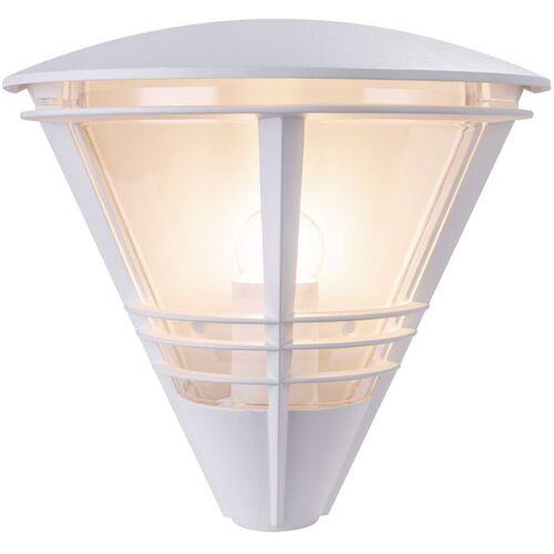 GLOBO Außen Wand Strahler Leuchte ALU Laterne Veranda Terrassen Lampe weiß