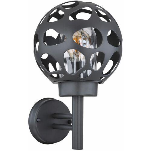 ETC-SHOP Wandleuchte Kugel Außenleuchte Kugel 20 cm Außenwandleuchte Edelstahl