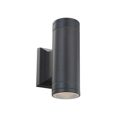 GLOBO LED Außenlampe Außen-Leuchte Lampe Aluminium grau Glas
