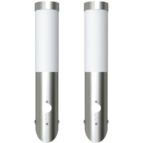 Vidaxl - Gartenleuchten 2 Wandlampen mit Bewegungsmelder
