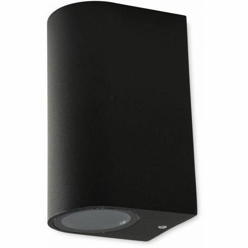 CHILITEC LED Wandleuchte CHILITEC CTW-2, schwarz, 2x GU10, IP44, max. 2x20 W