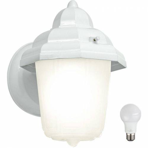 Etc-shop - Außen Beleuchtung Wand Lampe Leuchte Laterne weiß im Set