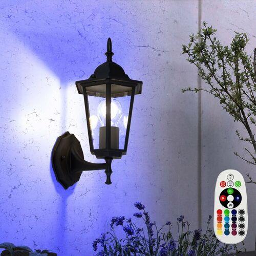 Etc-shop - Außen Lampe Balkon Wand Beleuchtung Alu Laterne Fassaden