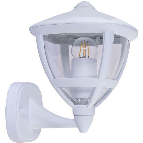 ETC-SHOP Außen Wand Lampe Terrassen ALU Laterne Strahler Leuchte DIMMBAR im Set