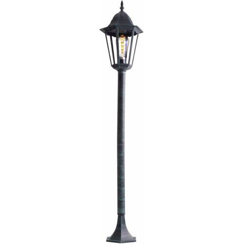 ETC-SHOP Rustikale Steh Lampe Stand Leuchte Laterne Beleuchtung Außen Strahler