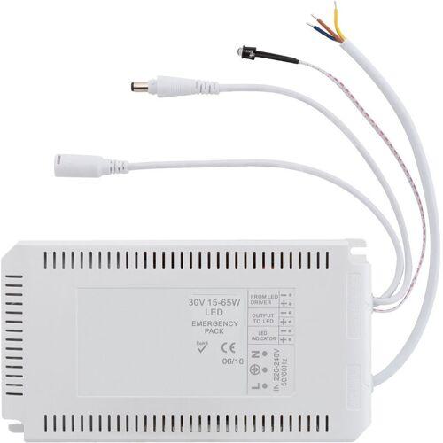 LEDKIA Treiber mit Batterie für Notfall-LED-Panels 30V DC 15-65W