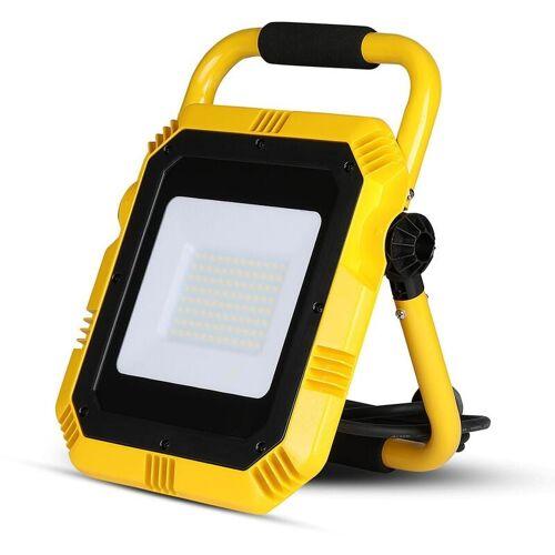 V-TAC VT-51 LED Arbeitsbeleuchtung/Baustrahler mit Steckdose – 50 W – 4000
