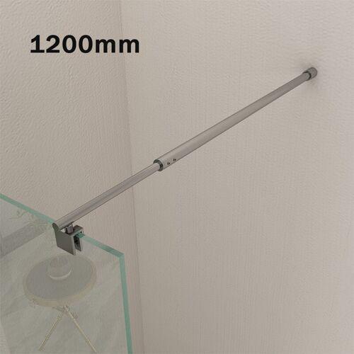 SONNI 120cm Haltestange Duschwand Stabilisierungsstange für Walk in Dusche