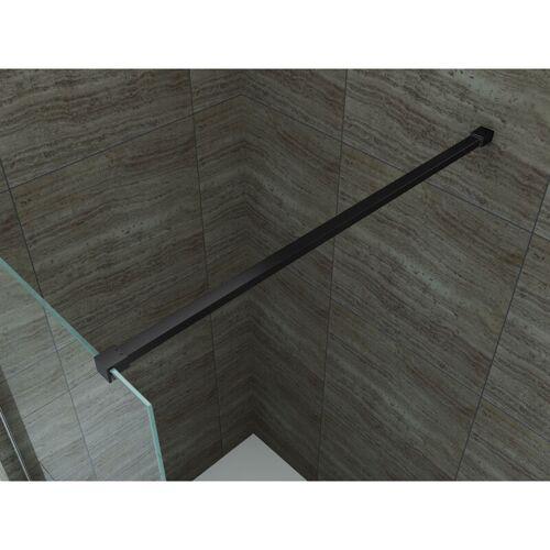 ALPHABAD 140 cm SLIM-DESIGN-Haltestange für Duschwände (schwarz)