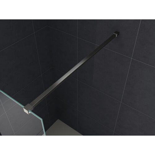 Glasdeals - 140 cm SLIM-DESIGN-Haltestange für Duschwände (schwarz)