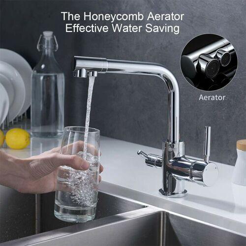 HOMELODY 3 Wege Trinkwasserhahn Armatur für Wasserfilter Wasserhahn Küche