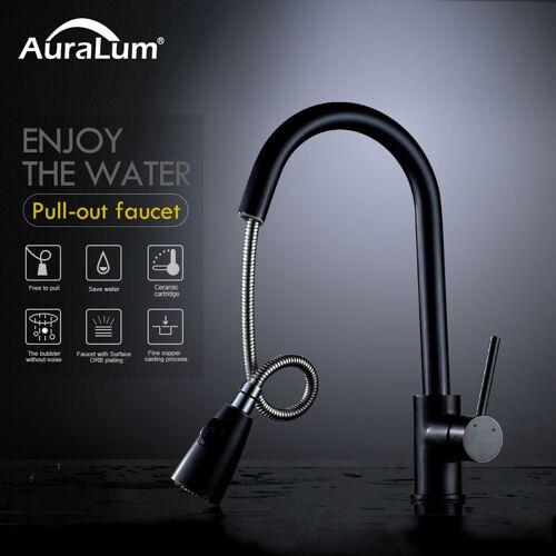 AURALUM Wasserhahn Küche 360°Drehbar Küchenarmatur mit