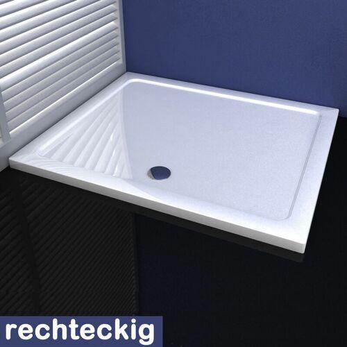 Aica 80x100cm Duschkabine Duschtasse aus Kunststein