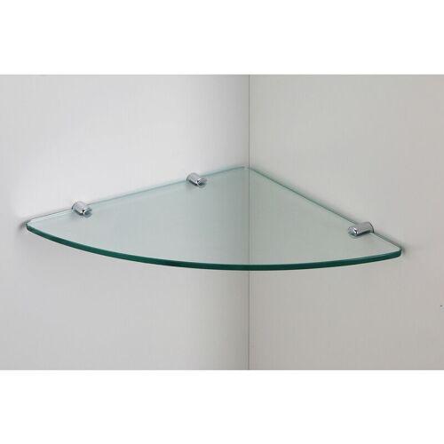 SONNI 8mm Glas-Wandregal Glasregal Eckregal für Duschwände/Duschkabinen