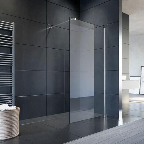 SONNI 90x200cm Walk in Duschwand, NANO ESG 8mm, Duschtrennwand Glaswand mit
