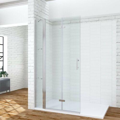 AQUABATOS 135 x 195 cm Faltbare Duschabtrennung Duschtrennwand Faltwand Duschwand