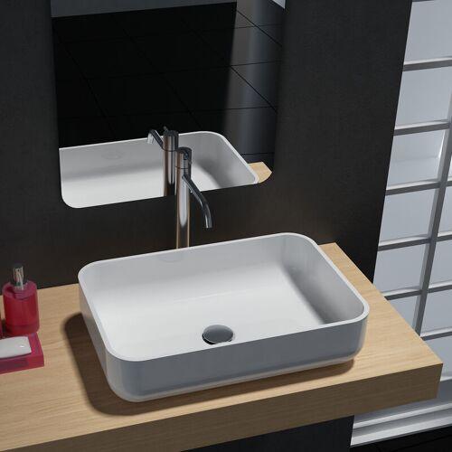 BERNSTEIN Aufsatzwaschbecken PB2133 aus Mineralguss - in Weiß oder Schwarz - 54 x
