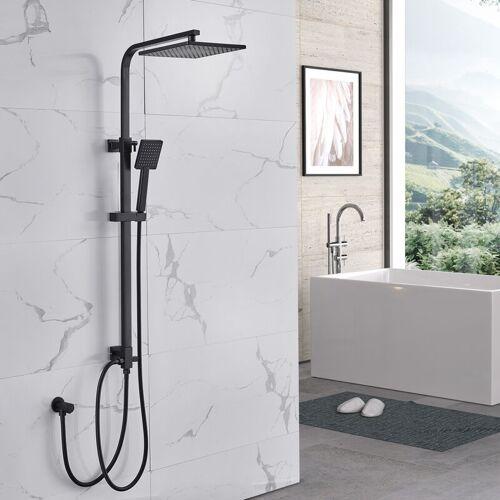 LONHEO Auralum Modern Duschsystem ohne Armatur Regenduschset Regendusche Eckig