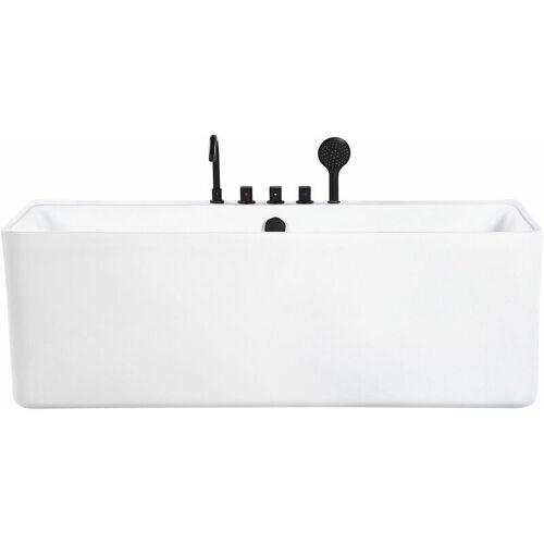 BELIANI Badewanne Weiß Sanitäracryl Rechteckig 170 cm abgerundete Kanten mit
