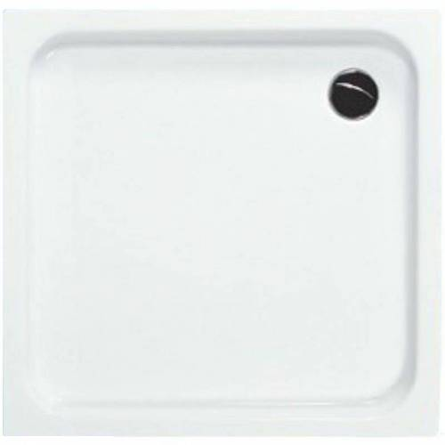 BÄDER BOUTIQUE BB Quadrat Acryl Duschwanne in 100 x 3,5 cm