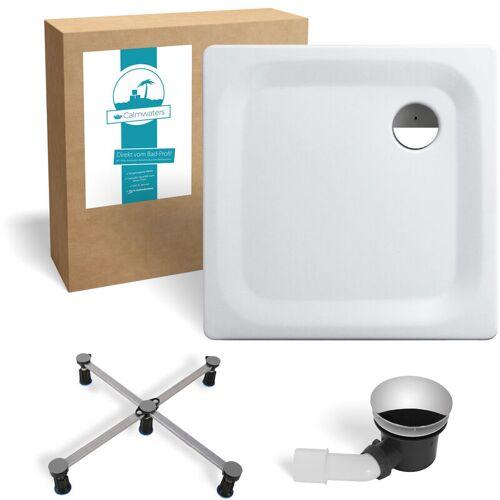 CALMWATERS ® - Essential Soft - Bodengleiche Dusche in 80 x 80 x 2,5 cm im
