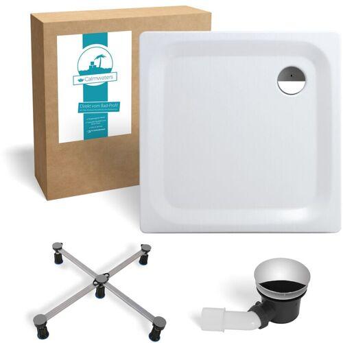 CALMWATERS ® Essential Soft - Bodengleiche Dusche in 90 x 90 x 2,5 cm im