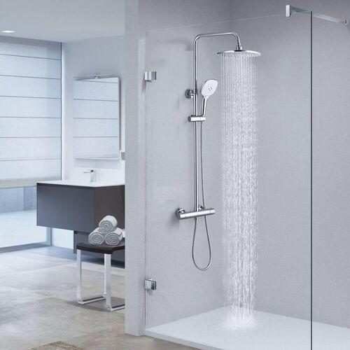 CECIPA Duschsystem mit Thermostat ohne Wasserhahn Thermostatische