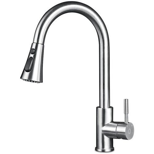 CECIPA Hochdruck Wasserhahn,Ausziehbarer Küchenwasserhahn aus 304