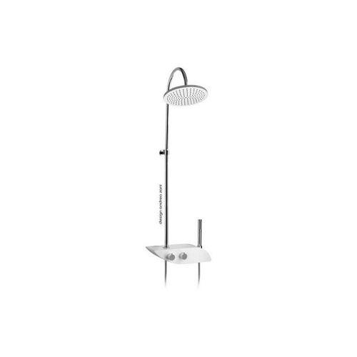 DEMM Duschsystem mit Thermostat Set,, White Concept, mit Umsteller,