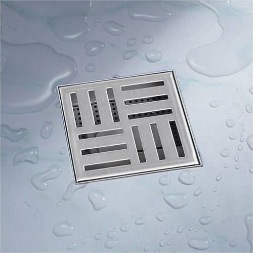 BITUXX 12x12 Duschablauf Abfluss Duschabfluss Duschrinne Ablaufgarnitur