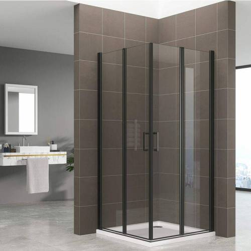 DUSCHBÄR Duschkabine ALINA, Höhe: 180 cm Eckduschkabine mit Falttüren aus 6 mm