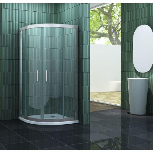 IMPEX-BAD_DE Impex-bad - Duschkabine FRAME-R 80 x 80 x 195 cm Viertelkreis ohne