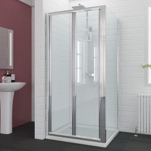 SONNI Duschkabine nische Nischentür 90x90cm mit Seitenwand Duschwand glas