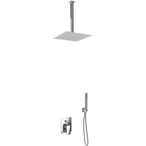 GIORGY Duschset mit 2 Duschkopf Einstellungen aus Inox Slim Edelstahl 2 mm +