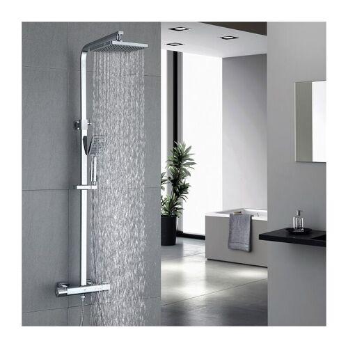 HOMELODY Dusche Duschsystem mit Thermostat Regendusche 2 Funktionen Duschset
