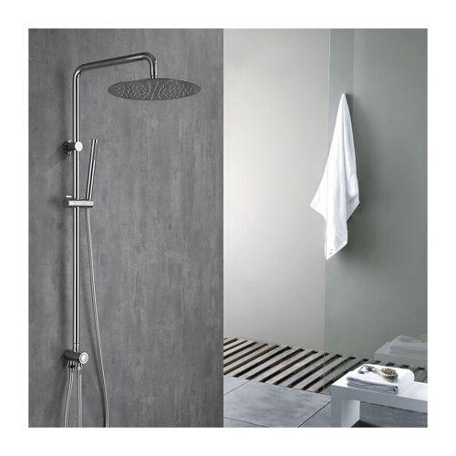 HOMELODY 304 Edelstahl Duschset Duschsystem Regenduschset mit Handbrause und