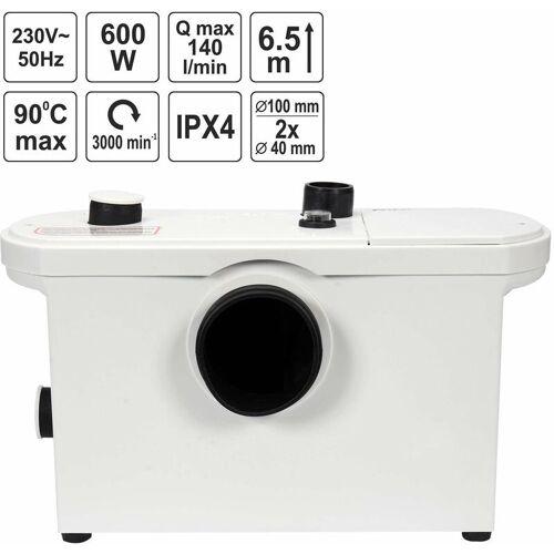 FALA WC-Hebeanlage 600 Watt Kleinhebeanlage für WC, Dusche, Waschbecken