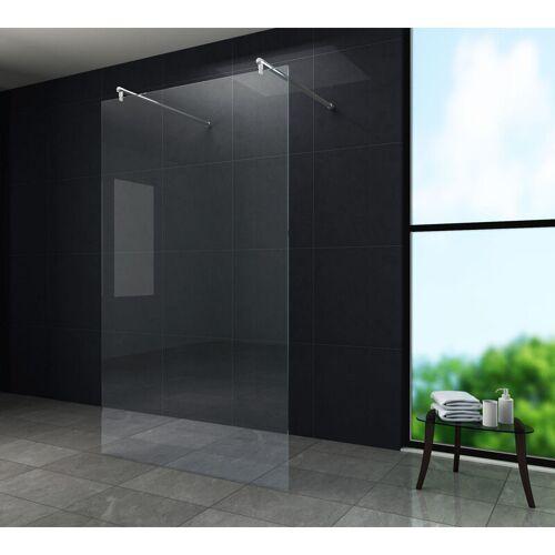 GLASDEALS Freistehende Duschwand AQUOS-Dublo 180 x 200 cm - Klarglas
