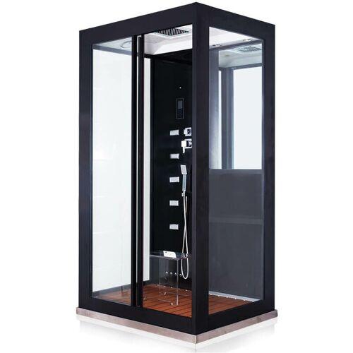Home Deluxe - Dampfdusche Black Luxory XL I Dusche, Regendusche,