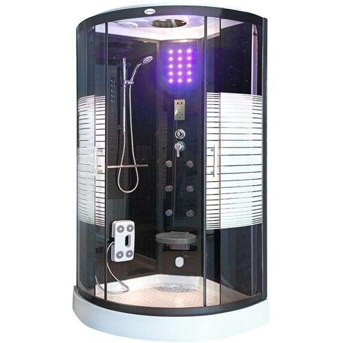 Home Deluxe - Dampfdusche Black Pearl (Cr) 100x100 cm mit Dampf I