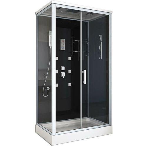 Home Deluxe - Dusche Wave XL 120x80 cm I Duschkabine, Duschtempel,