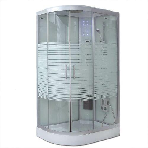 Home Deluxe - Dusche White Pearl (Cr) 120x80 cm (links) I Duschkabine,