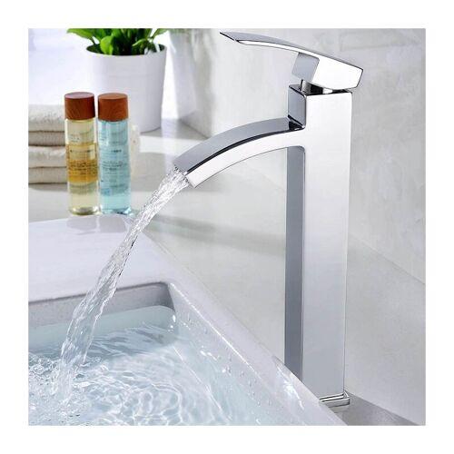 HOMELODY Wasserhahn Bad Chrom Waschbecken Armatur hoch Badarmatur